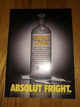 Absolut Fright Original Magazine Ad - $4.99