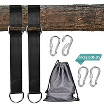 I-pure items Hammock Straps 5ft - 2 PCS Tree Swing Straps Hanging Kit Ho... - $15.76