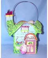 Peter Rabbit House Music Box Easter Basket Vint... - $60.00