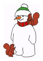 Snowman and Squirrels Color Graph Afghan Pattern - $5.00