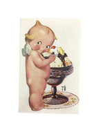 Vintage Rose O'Neill Artist Signed Kewpie Doll Postcard Ice Cream Sundae... - $23.33