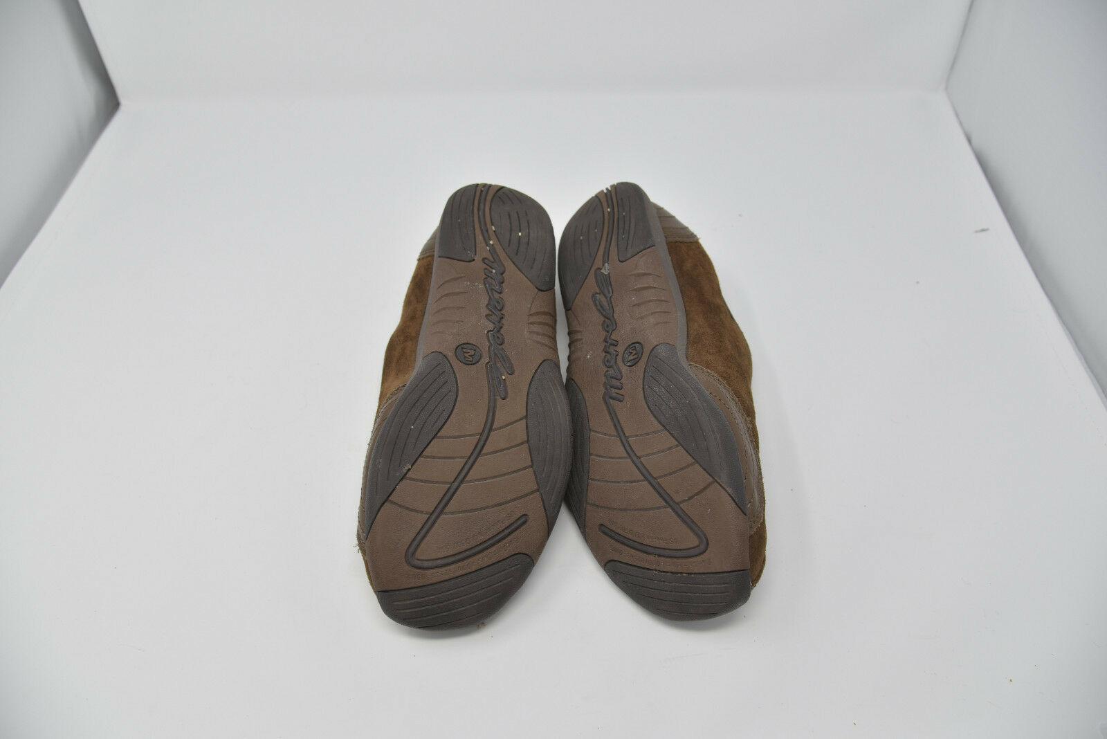 Merrell Womens Sz 10 EU 41 Brown Suede Zip Up Walking Flats Loafers J173241C