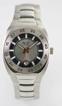 Relic Mens Blue Stainless Steel Silver Date Parts, Parts for Repair - $24.77