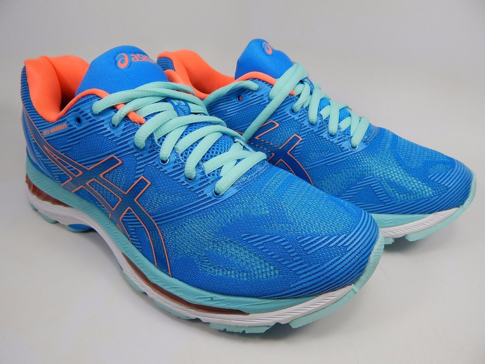 Asics Gel Nimbus 19 Women's Running Shoes Size US 7.5 M (B) EU 39 Blue T750N
