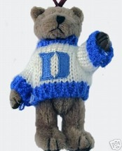 DUKE BASKETBALL SMALL PLUSH BEAR GOOD LUCK ORNAMENT NEW NCAA LIC FREE SH... - $13.08