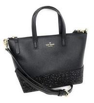 Kate Spade Ina Greta Court Glitter Crossbody Bag black - $65.00