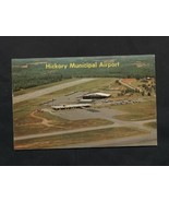 Vintage 1967 Postcard Hickory NC Municipal Airport Airplanes 1960s - $7.99