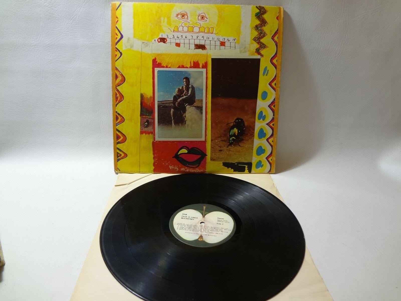 Paul And Linda McCartney- Ram SMAS-3375 1971 Pop Rock 33rpm LP Apple Record