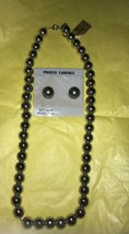 VINTAGE MONET NECKLACE AND EARRINGS SET Silver Plated New Only 1 - $18.81
