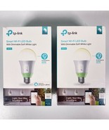 2 TP-Link Smart Wi-Fi LED Bulb 60W Equivalent LB110 Dimmable Soft White ... - $37.22