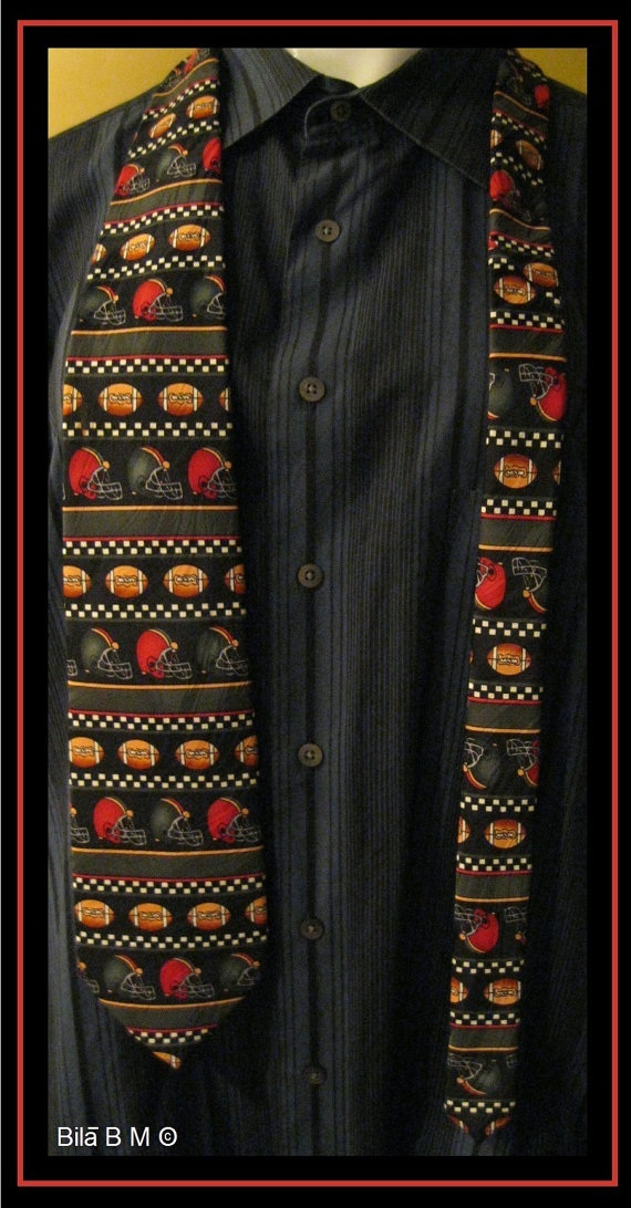 Football PLAY BALL Series 1 NECKTIE by Keith Daniels - Free Shipping