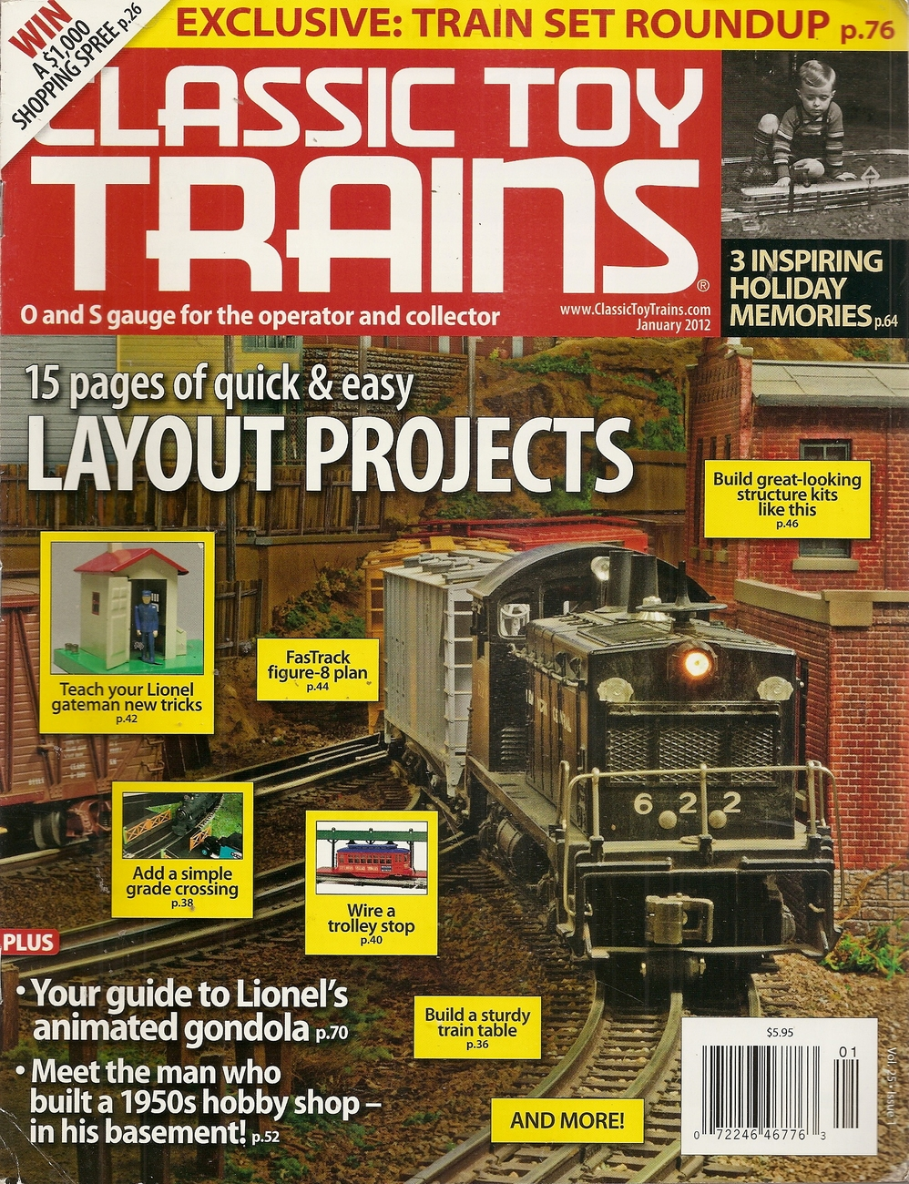 Primary image for CLASSIC TOY TRAINS JANUARY 2012