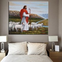 "Jesus Christ Print on Canvas religious Portrait art Wall decor 28x36"" - $29.64"