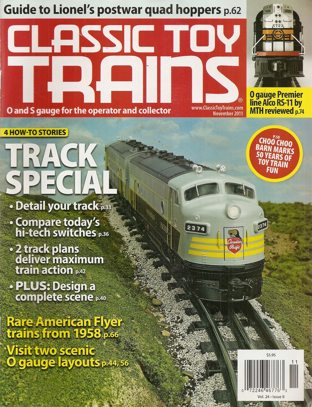 Primary image for CLASSIC TOY TRAINS NOVEMBER 2011