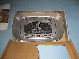 "Wilton Armetale ""Give Us This Day Our Daily Bread"" Tray Pewter New In Box - $7.91"