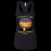 Husband & Wife Camping Partners For Life NL1533 Ladies Racerback Tank Co... - £14.55 GBP+