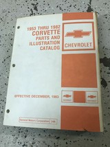 1953 1974 1977 1967 1982 Chevy Corvette Parts & Illustrations Catalog Ma... - $138.55