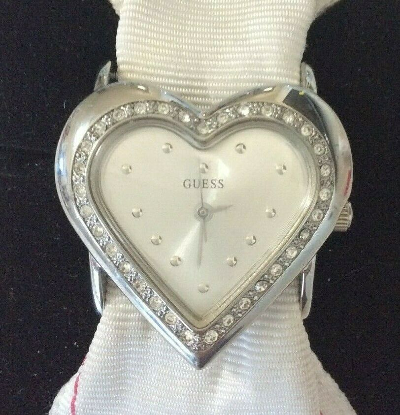Vintage Guess Heart Watch Interchangeable Bands Polka Dot  image 3