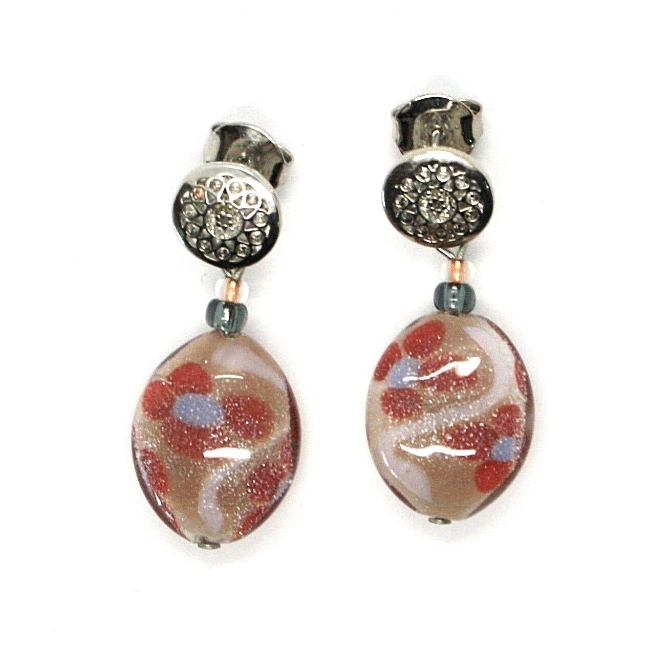 Earrings Antica Murrina Venezia Hanging with Murano Glass Red OR534A11