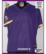 MINNESOTA VIKINGS JERSEY NEW FREE SHIPPING WOMENS REEBOK-NFL FOOTBALL  M... - $18.39