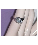 Diamonique Sterling Silver CZ Cluster  Ring Size 7 - $29.97