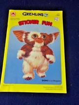 VTG 1984 Gremlins GOLDEN Sticker Fun Movie Book Gizmo Mogwai Not Colored - $14.89