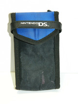 NINTENDO DS CARRYING CASE, BLACK & BLUE, USED, IN DECENT CONDITION, SHIP... - $6.25