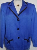 Royal Blue Black Horse Show Hobby Halter Jacket Sz 10 Western Showmanship Rail - $45.00