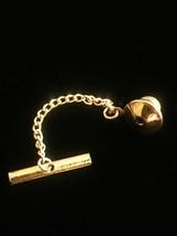 Vintage 60s NIXON Gold USA Tie Tack with Chain- rare! image 4