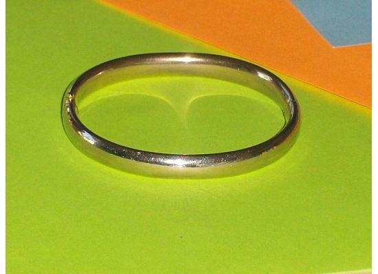 Hinged Silver Bangle Bracelet 12 Kt Gold Filled GFR