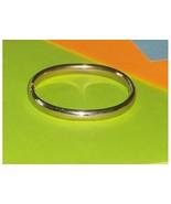 Hinged Silver Bangle Bracelet 12 Kt Gold Filled GFR - $59.97