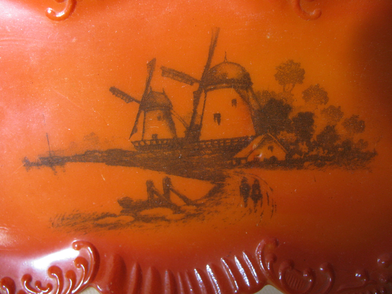 c. 1910 WSC 'Oriental' Orange cased Dresser Tray with Windmills