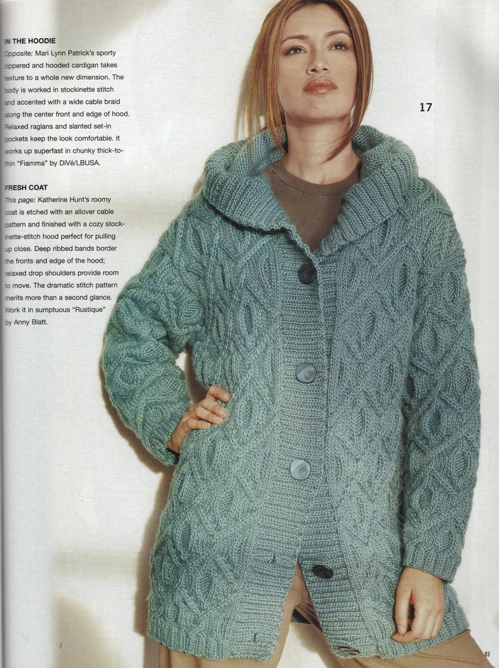Vogue Knitting Cardigan Pattern : VOGUE KNITTING Fall 2003 Fair Isle Sweaters Cardigan Cables Coats Ruana Skirt...
