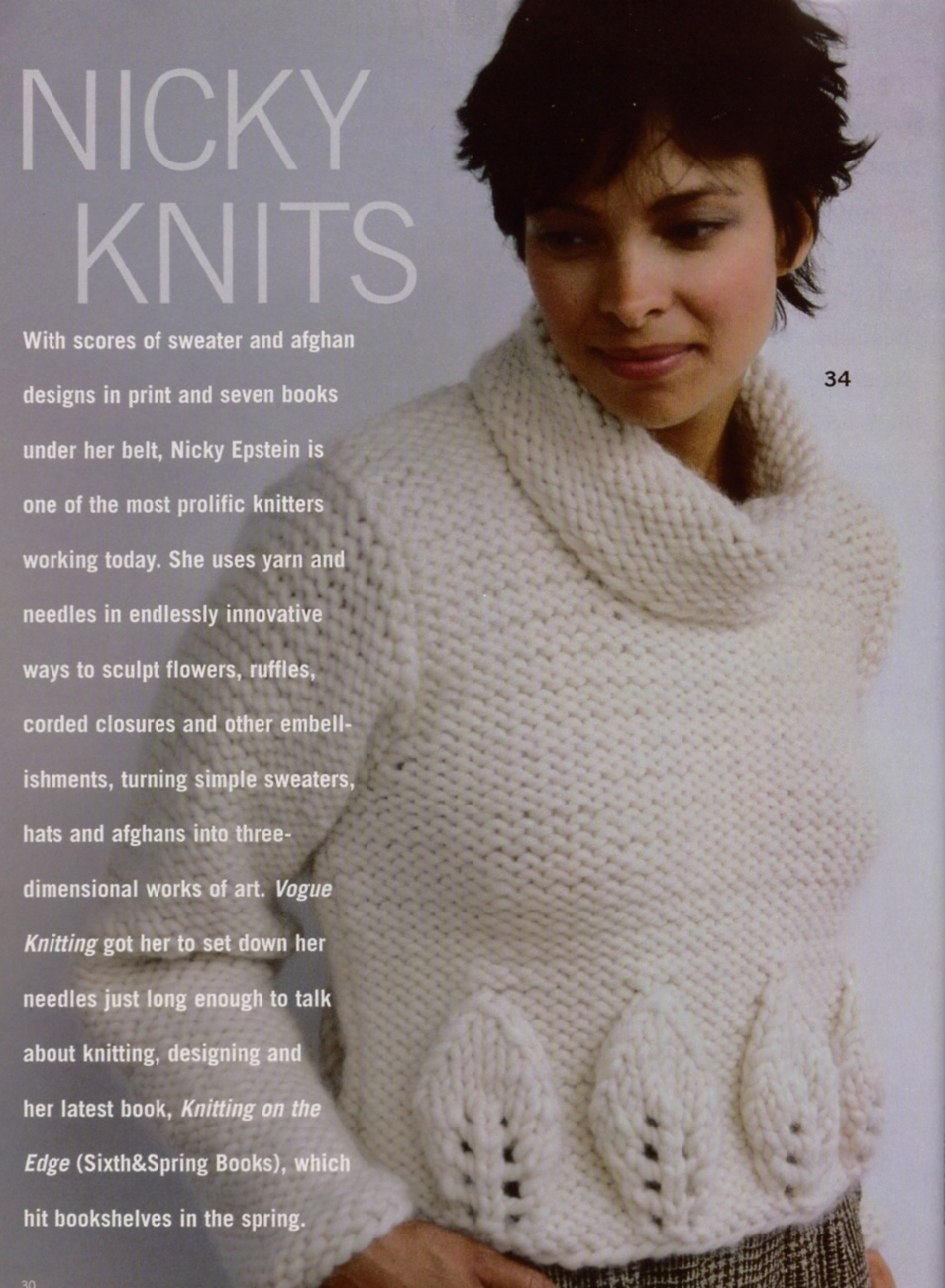 Vogue Knitting Cape Pattern : VOGUE KNITTING Fall 2004 Ponchos Wraps Capes Coats Fair Isle Sweater Leg Warm...