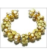 15 Lampwork Handmade Beads Glass Col:  Yellow, White  and oder - $9.99