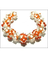 15 Lampwork Handmade Beads Glass Col:  Orange, White  and oder - $9.99