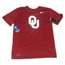 NWT NEW Oklahoma Sooners Nike Men's Legend Logo Dri Fit Shirt Size Small - €12,63 EUR