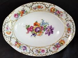 "Schumann Barvarian Dresden Flowers The Meissen Oval Vegetable 10"" - $60.78"
