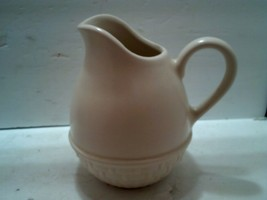 "Pfaltzgraff Basket Weaved Bottom 32 Oz Pitcher 6 3/4"" Tall Made In USA - $12.31"