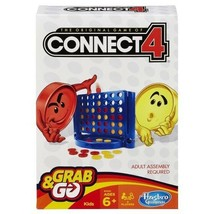 Connect 4 Grab and Go Game Hasbro Compact Mobile Version Playing Grid & ... - $14.15