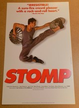 Stomp in Charlotte NC Broadway Show Window Card Poster 14 x 22 Dance Mus... - $29.99