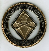 Army BCT Center for Excellence Fort Jackson Challenge Coin CG 1 Star CSM Serial - $40.00