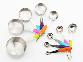Stainless Steel Measuring Cups Measuring Spoon Scoop Set Spoons With Scale  - €9,82 EUR