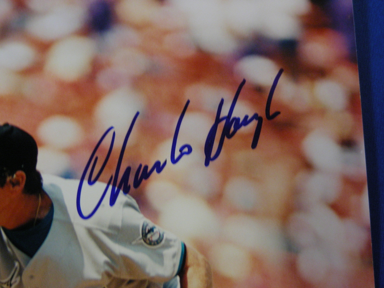 CHARLIE HOUGH DODGERS RANGERS MARLINS PITCHER SIGNED AUTO 8X10 STACKS OF PLAQUES