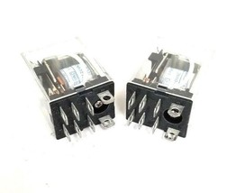 LOT OF 2 OMRON LY2 RELAYS 110/120VAC