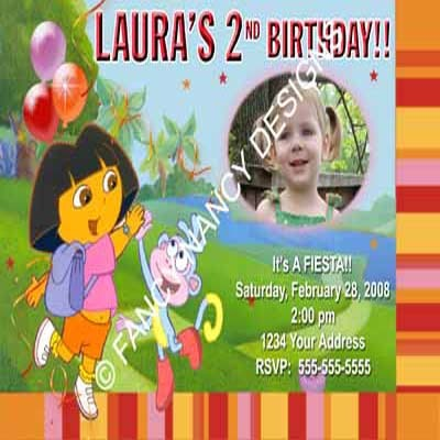 Primary image for Any Dora The Explorer Go Diego Go Girls Custom Photo Birthday Party Invitations