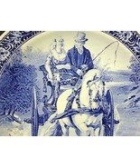 """DELFT Blue CARRIAGE RIDE Decorative Plate Charger Royal Spinx Holland 15.5"""" - $94.05"""