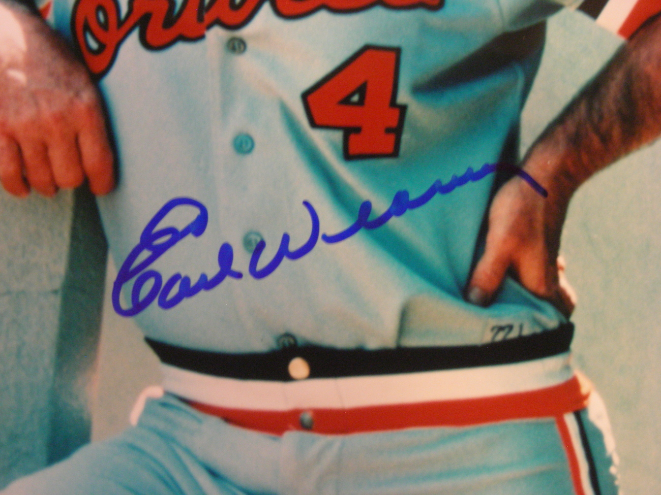 EARL WEAVER HOF 1996 ORIOLE MANAGER 1970 WSC SIGNED AUTO 8X10 PHOTO GLOBAL