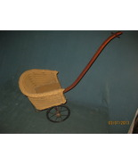 Antique wicker doll pull cart sulky - $50.00
