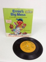 Vintage 1983 Fisher-Price Sesame Street Ernie's Big Mess 33 RPM Book & R... - $9.85